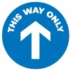 This Way Only Floor Mat Sticker Blue
