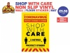 Shop With Care-Yellow Non Slip Sticker