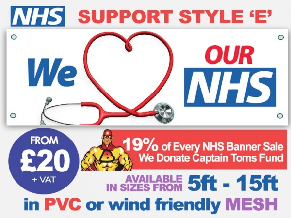 NHS Support Banner E