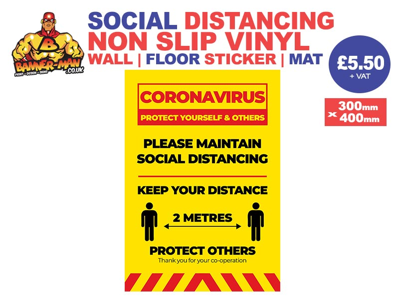 Please Maintain Social Distancing Sticker